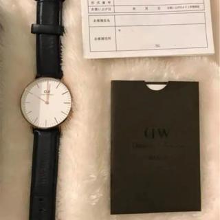ダニエルウェリントン(Daniel Wellington)のDW Daniel Wellington ブラック×ゴールド 腕時計(腕時計(アナログ))