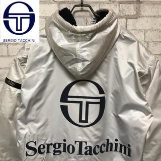 セルジオタッキーニ(Sergio Tacchini)の【希少】Sergio Tacchini ドデカロゴプリントベンチコート(ウェア)