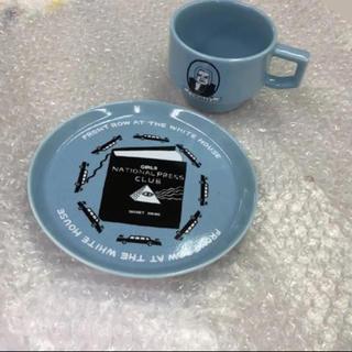 ハサミ(HASAMI)の竹内俊太郎コラボHASAMI波佐見焼マグカッププレートセット新品未使用(食器)