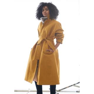 ジョンリンクス(jonnlynx)のjonnlynx moleskin coat〈black〉(ロングコート)