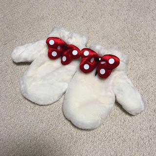 ディズニー(Disney)のミニー 手袋 ファー リボン(手袋)