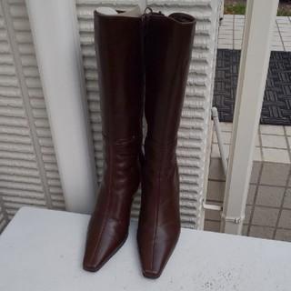 ロペ(ROPE)の美品ROPEブラウン系ロングブーツ(ブーツ)
