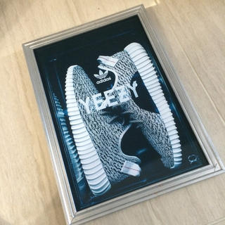 アディダス(adidas)のKANYE WEST カニエ ウエスト アディダス スニーカー アート ポスター(絵画/タペストリー)