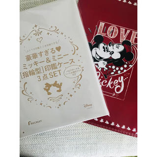 ディズニー(Disney)のゼクシィ ミッキーミニー 印鑑ケース セブンイレブン購入限定 クリアファイル(印鑑/スタンプ/朱肉)