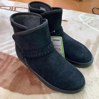 クロックス(crocs)の新品クロックス★スエードブーツw9(ブーツ)