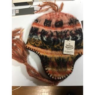 ヴィヴィアンウエストウッド(Vivienne Westwood)のVivienne Westwood モヘア 耳あて 帽子(ニット帽/ビーニー)