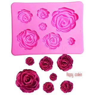 薔薇 7種 シリコンモールド(各種パーツ)