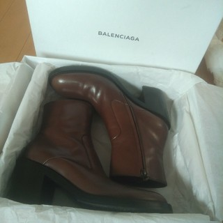 バレンシアガ(Balenciaga)のBALENCIAGA 17AW 美品 レザー ヒール ブーツ (ブーツ)