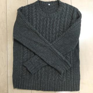 ムジルシリョウヒン(MUJI (無印良品))の無印良品 MUJI ウール100パーセント ケーブルニット セーター(ニット/セーター)