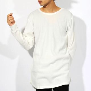 エイト(8iGHT)のワッフル 無地 ロング丈Tシャツ(Tシャツ/カットソー(七分/長袖))
