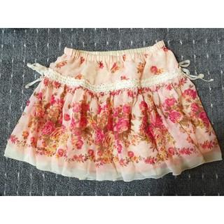 リズリサ(LIZ LISA)のLIZ LISA ミニスカート 花柄 ピンク(ミニスカート)