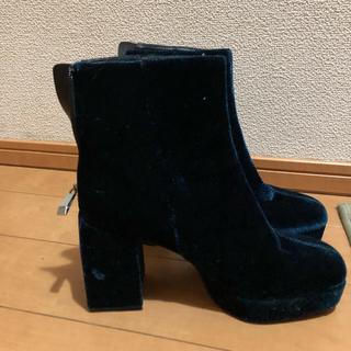 ザラ(ZARA)の週末限定価格☆ショートブーツ ブルー(ブーツ)