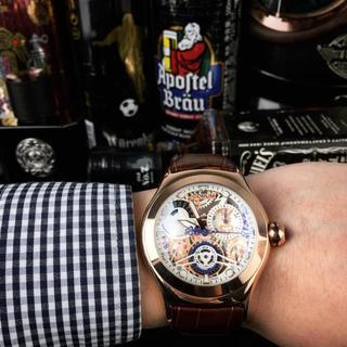 コルム(CORUM)のメンズ CORUM コルム 腕時計 ファッション 専用箱付き 人気(レザーベルト)