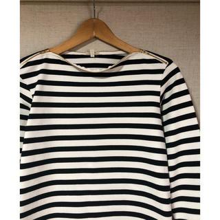 サイ(Scye)の古着 scye ボーダーカットソー サイ バスクシャツ ジップデザイン(カットソー(長袖/七分))