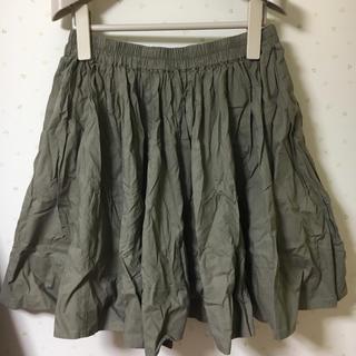 エージープラス(a.g.plus)のa.g.plus カーキ スカート(ひざ丈スカート)