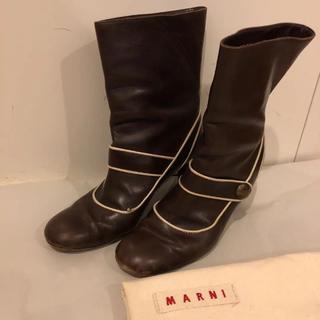 マルニ(Marni)のmarni マルニ ショートブーツ 38 ブラウン(ブーツ)