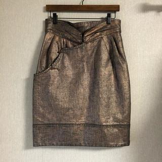ツモリチサト(TSUMORI CHISATO)の【 TSUMORI CHISATO 】デニム コーティングスカート  (ひざ丈スカート)