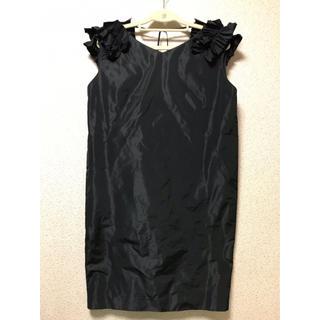 エリオポール(heliopole)のLiesse リエス パーティ用ドレス コクーンワンピース 極美品(ひざ丈ワンピース)