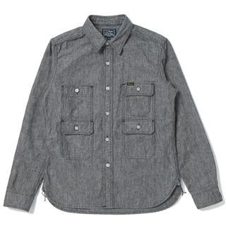 ステュディオダルチザン(STUDIO D'ARTISAN)のスタジオ ダルチザン ミスターマウンテンシャツ M ブラック シャンブレーシャツ(シャツ)