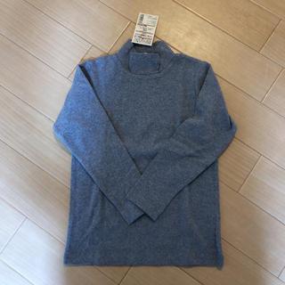 MUJI (無印良品) - 新品・無印 ハイネック長袖Tシャツ 120