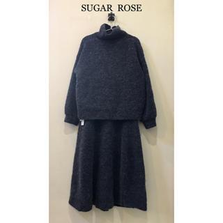 シュガーローズ(Sugar Rose)のSugar Rose アルパカブークレニットセットアップ 未使用(ニット/セーター)