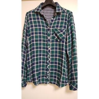 ラフ(rough)のrough ダブルガーゼリバーシブルチェックシャツ used(シャツ/ブラウス(長袖/七分))