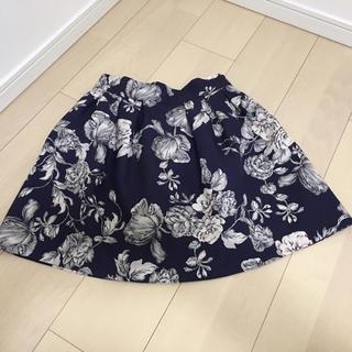 アンティックラグ(antic rag)の花柄スカート(ミニスカート)