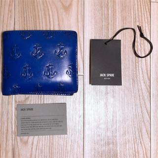 ジャックスペード(JACK SPADE)のJACK SPADE 二つ折り財布 アンカーモチーフ(折り財布)