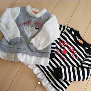 シマムラ(しまむら)の裏起毛 ウラモコトップス 120(Tシャツ/カットソー)