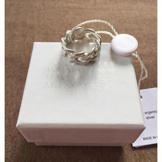 マルタンマルジェラ(Maison Martin Margiela)の18SS新品M マルジェラ シルバー チェーンリング(リング(指輪))