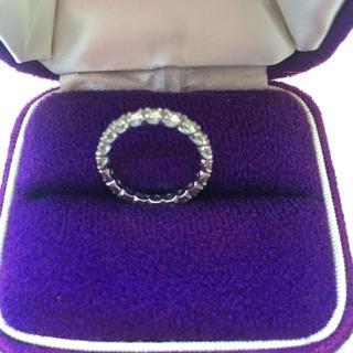 PT900 1カラット ダイヤモンド フルエタニティリング(リング(指輪))