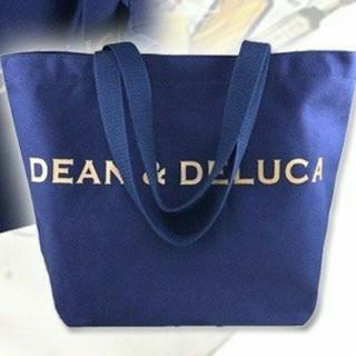 ディーン&デルーカ DEAN&DELUCA トートバッグ ネイビー ゴールドロゴ