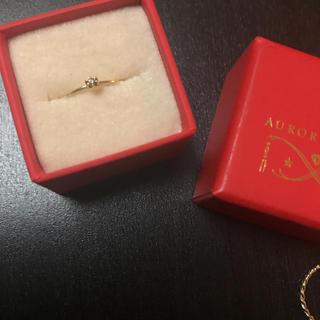 オーロラグラン(AURORA GRAN)のauroragran ダイヤ ピンキーリング(リング(指輪))