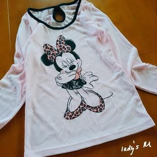 ディズニー(Disney)の【lady's】ヒョウ柄 レオパード ミニー/長袖Tシャツ M(Tシャツ(長袖/七分))