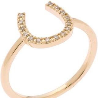 ココシュニック(COCOSHNIK)のココシュニック 馬蹄モチーフ ダイヤモンドリング(リング(指輪))