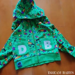 ドリームベイビーズ(DREAMBABYS)の【DREAM BABYS】カラフル プリント/長袖パーカー 110(ジャケット/上着)