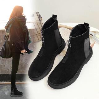 アンティカ(antiqua)の新品 ファスナーブーツ 裏ボア   24.5cm(ブーツ)