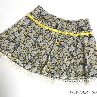 パウダーシュガー(POWDER SUGAR)のパウダーシュガー POWDER SUGAR 花柄 スカート(ミニスカート)