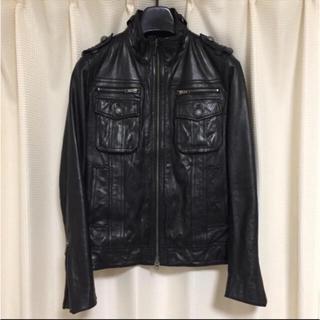 ルイスレザー(Lewis Leathers)のレザー ライダース ジャケット 革 M 黒 ブラック(ライダースジャケット)