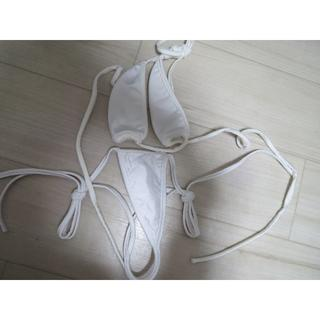 【新品未使用】白 ビキニセット 下着 水着 セクシー(コスプレ用インナー)