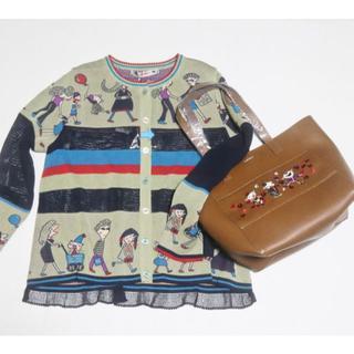 アルベロ(ALBERO)の新品 アルベロベロ 三匹ぶたちゃん刺繍ビジュー付きトートバッグ(トートバッグ)