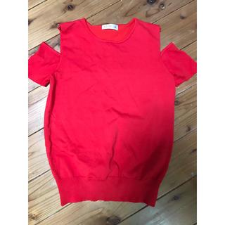 シマムラ(しまむら)の赤肩だし半袖(Tシャツ(半袖/袖なし))