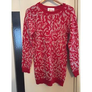ジュンオカモト(JUN OKAMOTO)の【値下!!!】真っ赤なニットセーター(ニット/セーター)