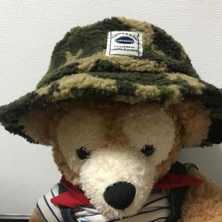 シマムラ(しまむら)の【新品未使用】迷彩 帽子 48-50 ボア 冬(帽子)