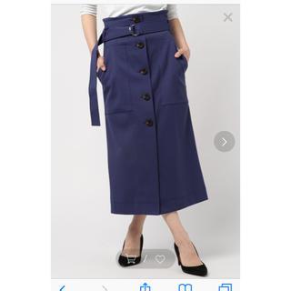 フレイアイディー(FRAY I.D)のバックプリーツタイトスカート(ロングスカート)