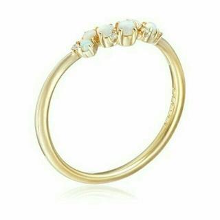 ポコタ様専用 ソーイsowi【K10】オパール&ダイヤモンドリング(リング(指輪))