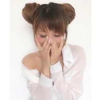 ナバーナウィッグ(NAVANA WIG)のデザイア desireウィッグ 簡単装着!【ミニお団子ウィッグ】(ロングカール)