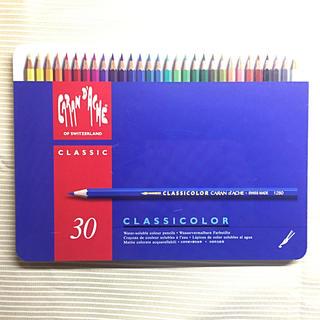 カランダッシュ(CARAN d'ACHE)のカランダッシュ クラシカラー 水溶性色鉛筆 30色(色鉛筆 )