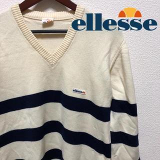 エレッセ(ellesse)の【ellesse】ニット セーター MADE IN JAPAN ビンテージ(ニット/セーター)