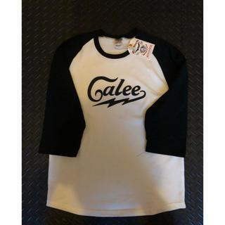 CALEE 3/4 RAGLAN SLEEVE PRINT Tシャツ 未使用